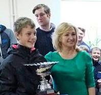 Ice-Optimist World Champion 2015 Keith Luur C-5 from Estonia