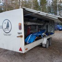 Trailer specially built for iceboats